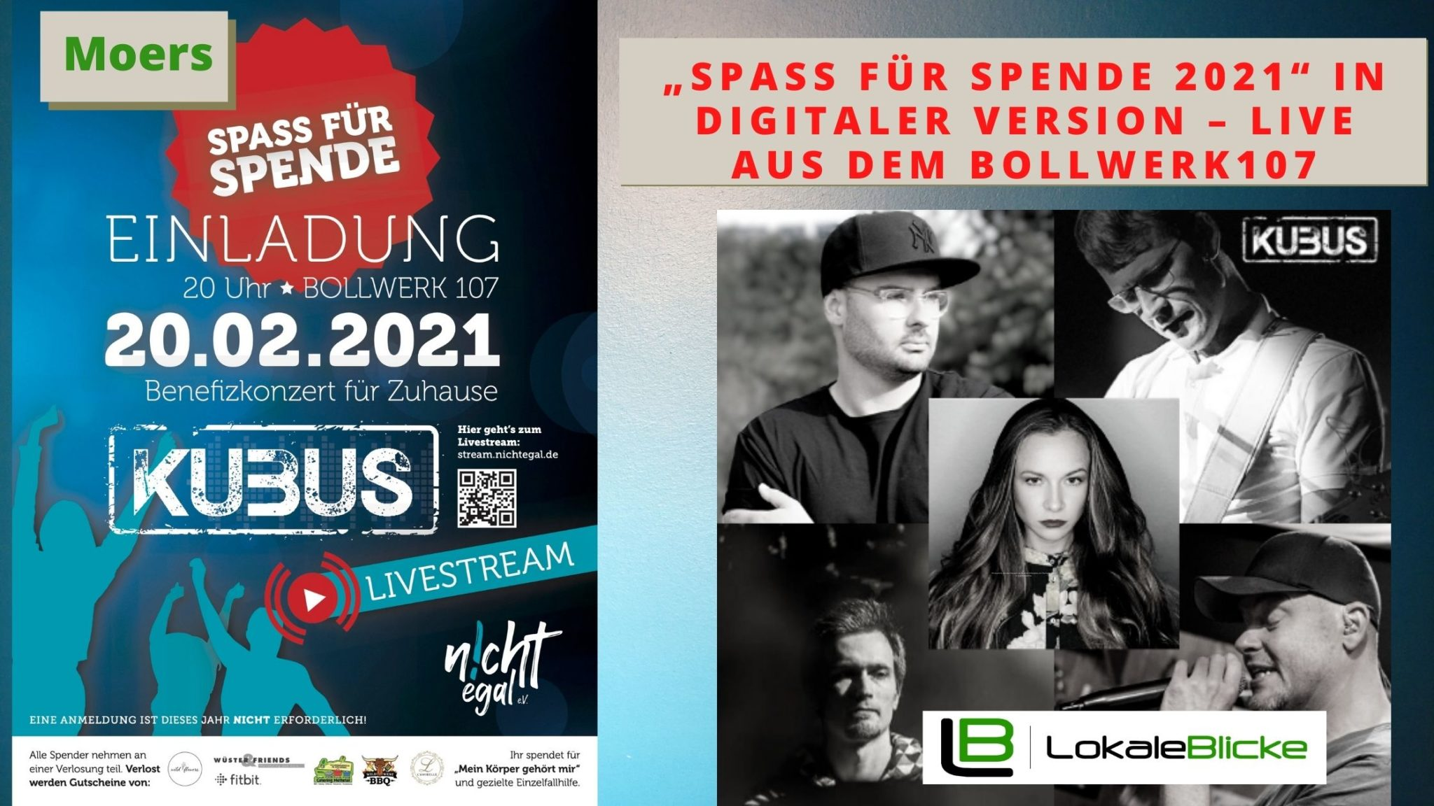 """""""Spass für Spende 2021"""" in digitaler Version – live aus dem Bollwerk107"""