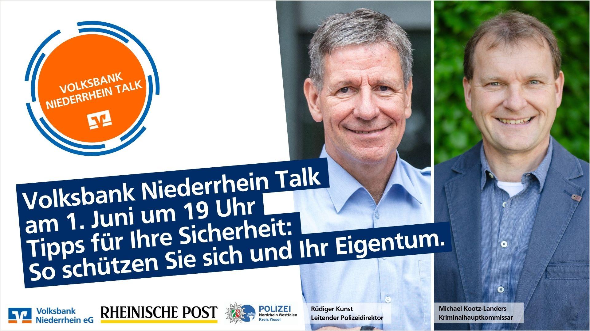 Volksbank Niederrhein Talk mit der Kreispolizei Wesel: