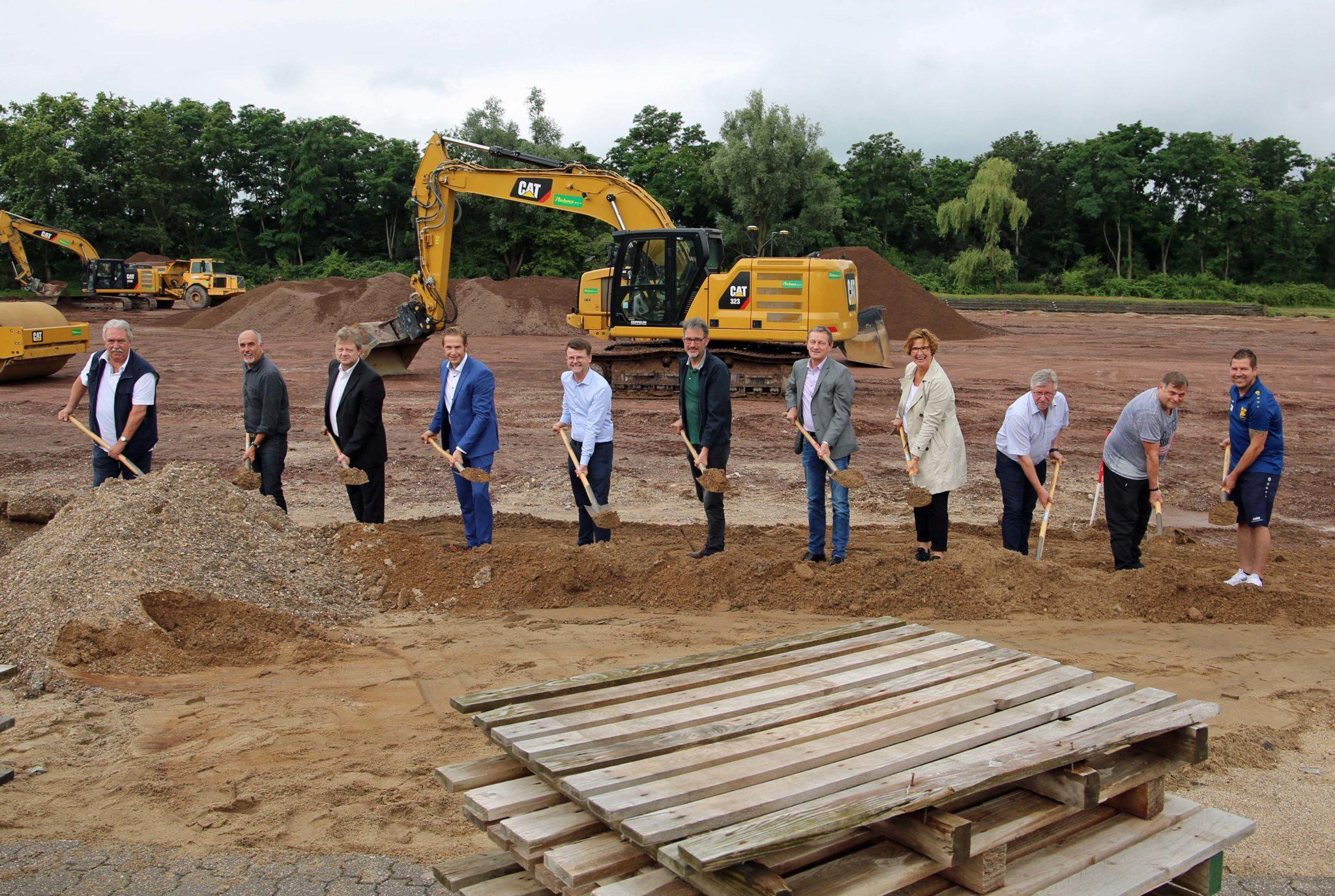Bau des Sportparks Asberg hat begonnen