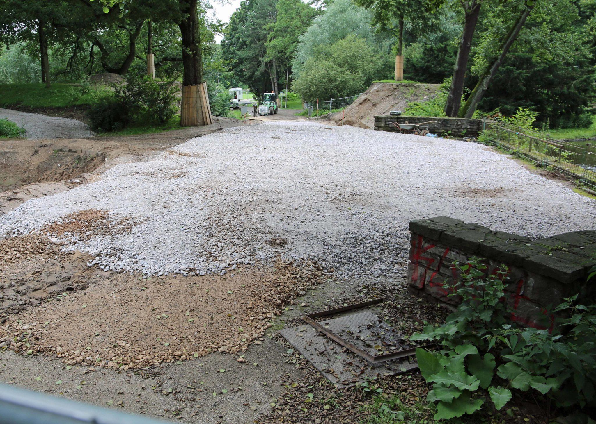 Die Wasserfontänen kehren zurück - Arbeiten im Park sind zurzeit 'verlagert'